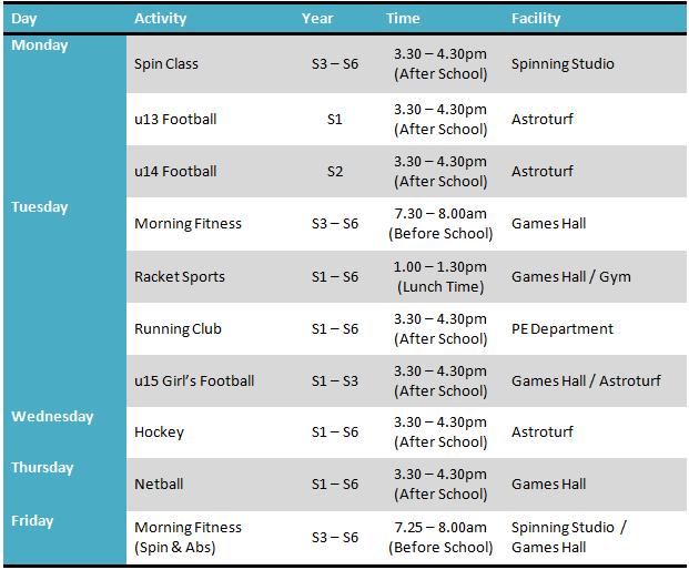 EC Timetable